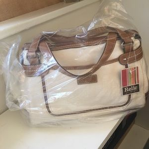 Relic Satchel in Winter White NWT